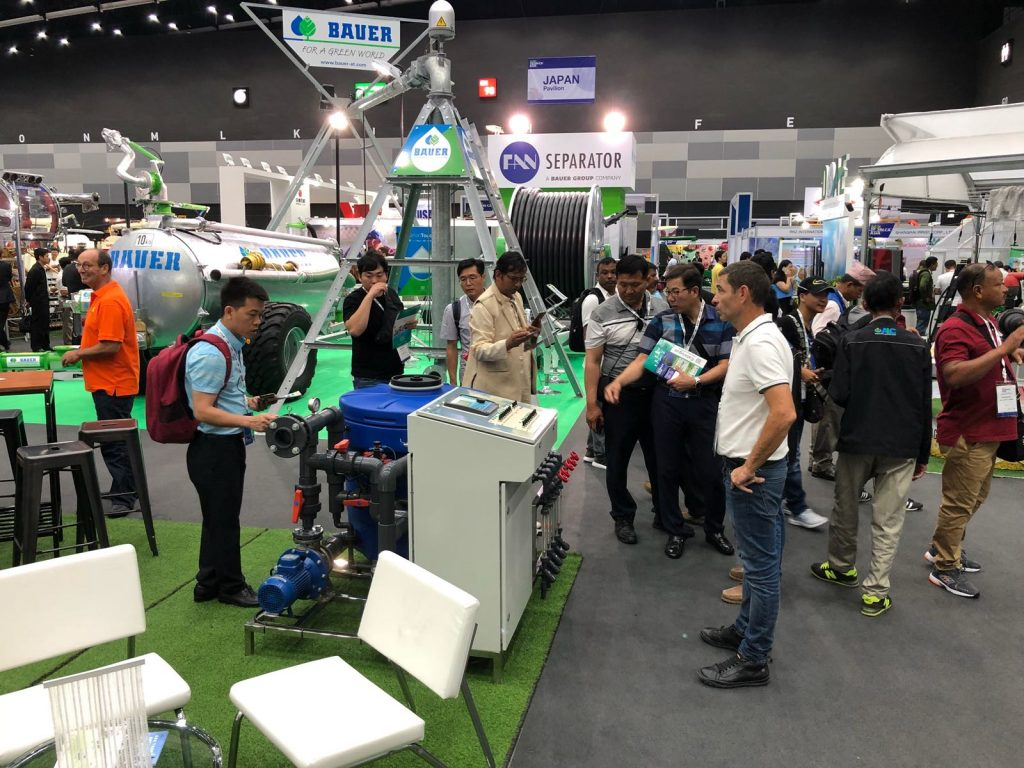 Busy first day at Horti ASIA 2018