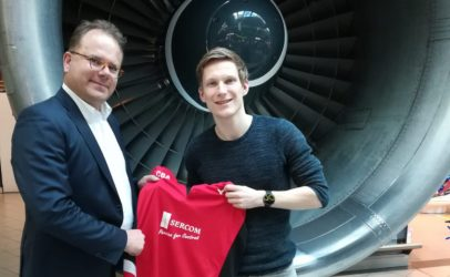 SERCOM new sponsor badminton player Robin Tabeling